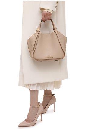 Женская сумка the director mini MARC JACOBS (THE) бежевого цвета, арт. H008L01PF21   Фото 2