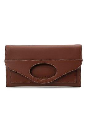 Женская сумка pocket BURBERRY коричневого цвета, арт. 8041253 | Фото 1 (Материал: Натуральная кожа; Ремень/цепочка: На ремешке; Сумки-технические: Сумки через плечо)