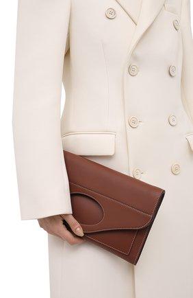 Женская сумка pocket BURBERRY коричневого цвета, арт. 8041253 | Фото 2 (Материал: Натуральная кожа; Ремень/цепочка: На ремешке; Сумки-технические: Сумки через плечо)