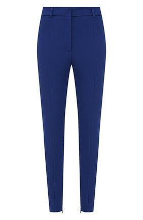 Женские брюки BURBERRY темно-синего цвета, арт. 8039415 | Фото 1