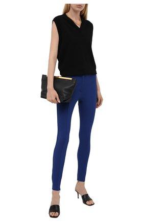 Женские брюки BURBERRY темно-синего цвета, арт. 8039415 | Фото 2