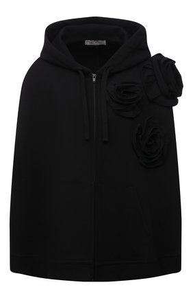 Женский хлопковый кардиган VALENTINO черного цвета, арт. WB3MF10M6HC | Фото 1