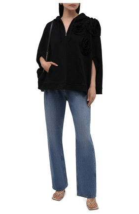 Женский хлопковый кардиган VALENTINO черного цвета, арт. WB3MF10M6HC | Фото 2