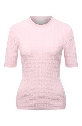 Женский пуловер из вискозы GIVENCHY розового цвета, арт. BW90D24ZA4 | Фото 1
