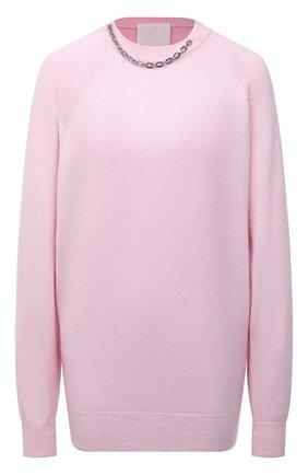 Женский кашемировый пуловер GIVENCHY розового цвета, арт. BW90CM4Z9K | Фото 1