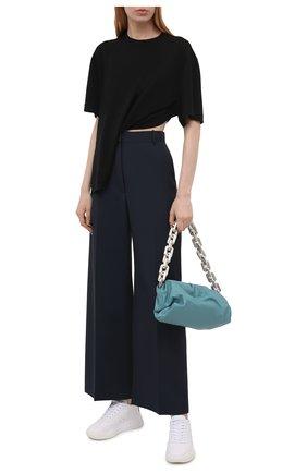 Женская футболка из вискозы GIVENCHY черного цвета, арт. BW60U93047   Фото 2 (Принт: Без принта; Рукава: Короткие; Длина (для топов): Стандартные, Укороченные; Стили: Спорт-шик; Женское Кросс-КТ: Футболка-одежда; Материал внешний: Вискоза)