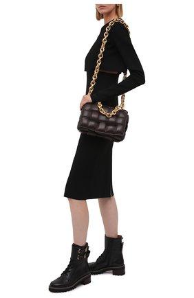 Женские кожаные ботинки mallory SEE BY CHLOÉ черного цвета, арт. SB33080A/14000 | Фото 2