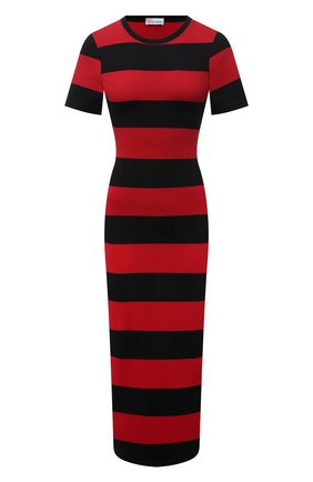 Женское хлопковое платье REDVALENTINO красного цвета, арт. WR3MJ07G/61N   Фото 1