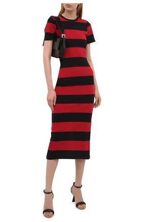 Женское хлопковое платье REDVALENTINO красного цвета, арт. WR3MJ07G/61N   Фото 2