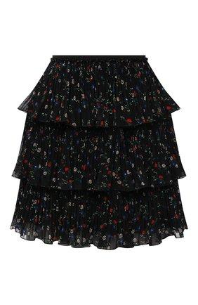 Женская плиссированная юбка REDVALENTINO черного цвета, арт. WR3RAG20/60H   Фото 1