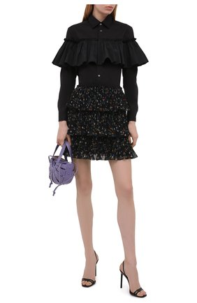 Женская плиссированная юбка REDVALENTINO черного цвета, арт. WR3RAG20/60H   Фото 2