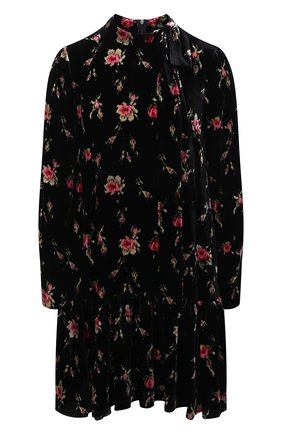 Женское платье из вискозы и шелка REDVALENTINO черного цвета, арт. WR3VAAM5/601   Фото 1