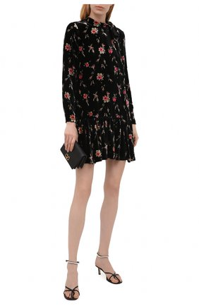 Женское платье из вискозы и шелка REDVALENTINO черного цвета, арт. WR3VAAM5/601   Фото 2