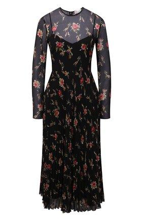 Женское платье REDVALENTINO черного цвета, арт. WR3VAAR0/602   Фото 1