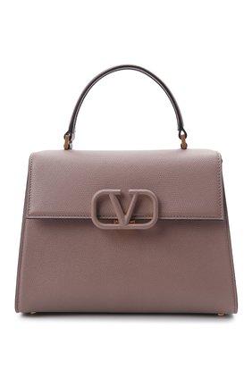 Женская сумка vsling medium VALENTINO темно-бежевого цвета, арт. WW2B0J20/KGW | Фото 1 (Материал: Натуральная кожа; Сумки-технические: Сумки top-handle; Ремень/цепочка: На ремешке; Размер: medium)