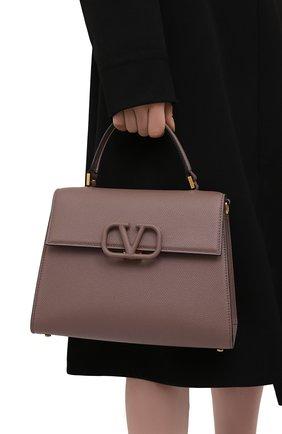 Женская сумка vsling medium VALENTINO темно-бежевого цвета, арт. WW2B0J20/KGW | Фото 2 (Материал: Натуральная кожа; Сумки-технические: Сумки top-handle; Ремень/цепочка: На ремешке; Размер: medium)