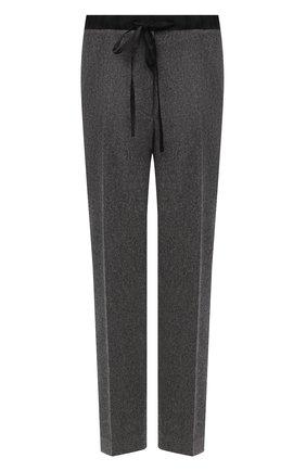 Женские шерстяные брюки JIL SANDER серого цвета, арт. JPPT310550-WT212500B   Фото 1
