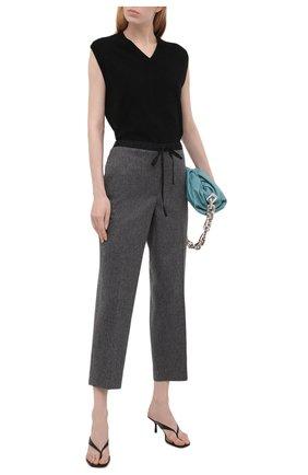 Женские шерстяные брюки JIL SANDER серого цвета, арт. JPPT310550-WT212500B   Фото 2