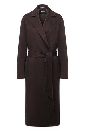Женское кашемировое пальто KITON коричневого цвета, арт. D52632DK0568A   Фото 1