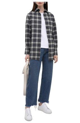 Женская хлопковая рубашка KITON разноцветного цвета, арт. D52445H07868   Фото 2