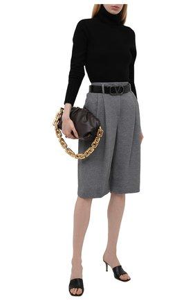 Женский кашемировый свитер KITON черного цвета, арт. D50728080   Фото 2