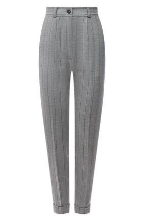 Женские шерстяные брюки KITON серого цвета, арт. D50105K0548A   Фото 1