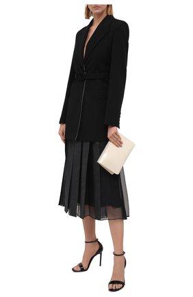 Женская шерстяная юбка BRUNELLO CUCINELLI темно-серого цвета, арт. ME226G3114 | Фото 2 (Материал внешний: Шерсть; Материал подклада: Синтетический материал; Стили: Кэжуэл; Женское Кросс-КТ: Юбка-одежда; Длина Ж (юбки, платья, шорты): Миди)
