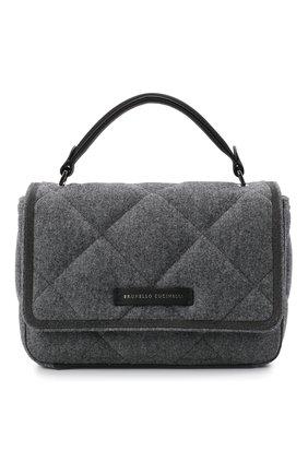 Женская сумка BRUNELLO CUCINELLI темно-серого цвета, арт. MBFND2216P | Фото 1