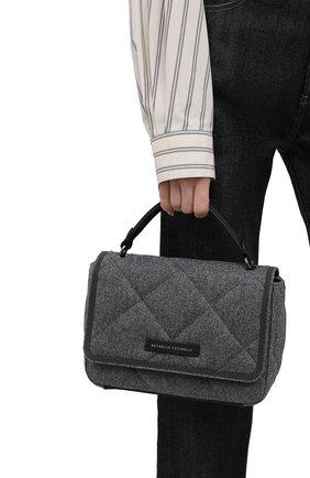 Женская сумка BRUNELLO CUCINELLI темно-серого цвета, арт. MBFND2216P | Фото 2