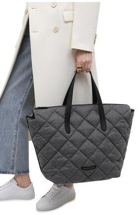 Женский сумка-шопер BRUNELLO CUCINELLI серого цвета, арт. MBFND1672P   Фото 2