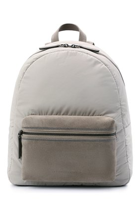 Женский рюкзак BRUNELLO CUCINELLI светло-серого цвета, арт. MB74D2348 | Фото 1