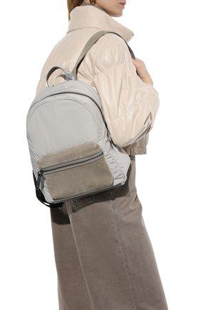 Женский рюкзак BRUNELLO CUCINELLI светло-серого цвета, арт. MB74D2348 | Фото 2