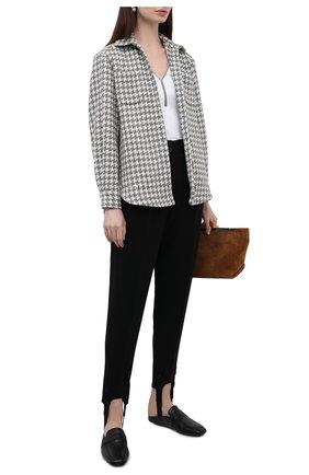 Женский хлопковый пуловер BRUNELLO CUCINELLI белого цвета, арт. M0TC8BY212 | Фото 2 (Материал внешний: Хлопок; Длина (для топов): Стандартные; Стили: Кэжуэл; Женское Кросс-КТ: Пуловер-одежда; Рукава: Короткие)