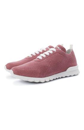 Женские текстильные кроссовки KITON розового цвета, арт. DSSFITSN00810 | Фото 1 (Материал внутренний: Натуральная кожа; Материал внешний: Текстиль; Подошва: Платформа)