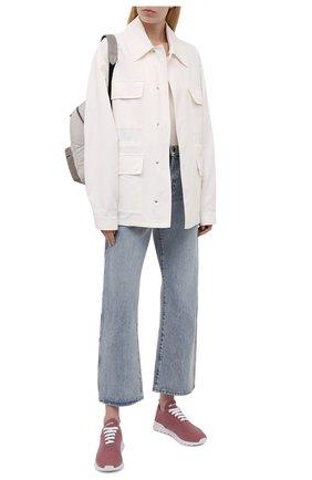 Женские текстильные кроссовки KITON розового цвета, арт. DSSFITSN00810 | Фото 2 (Материал внутренний: Натуральная кожа; Материал внешний: Текстиль; Подошва: Платформа)