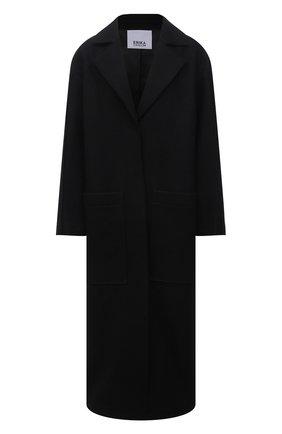 Женское шерстяной пальто ERIKA CAVALLINI черного цвета, арт. W1/P/P1WE01 | Фото 1