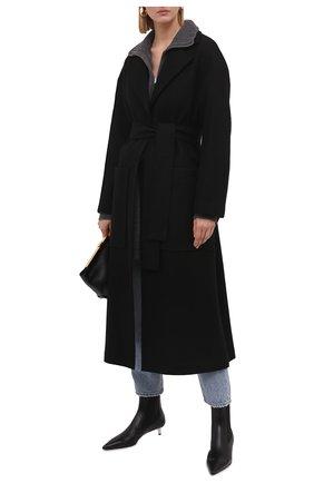 Женское шерстяной пальто ERIKA CAVALLINI черного цвета, арт. W1/P/P1WE01 | Фото 2