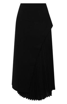 Женская шерстяная юбка ERIKA CAVALLINI черного цвета, арт. W1/P/P1WE09 | Фото 1