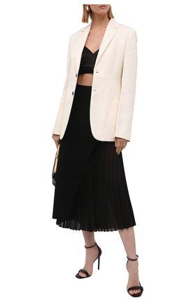 Женская шерстяная юбка ERIKA CAVALLINI черного цвета, арт. W1/P/P1WE09 | Фото 2