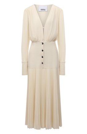 Женское платье ERIKA CAVALLINI кремвого цвета, арт. W1/P/P1WE08 | Фото 1