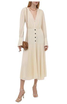 Женское платье ERIKA CAVALLINI кремвого цвета, арт. W1/P/P1WE08 | Фото 2