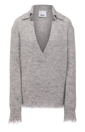 Женский пуловер ERIKA CAVALLINI серого цвета, арт. W1/P/P1WC22 | Фото 1