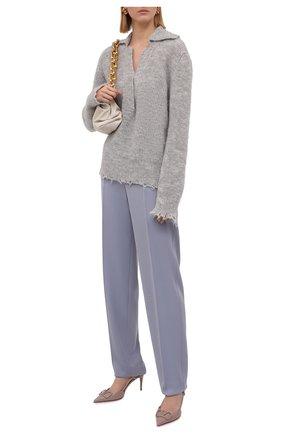 Женский пуловер ERIKA CAVALLINI серого цвета, арт. W1/P/P1WC22 | Фото 2