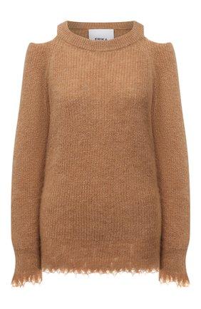 Женский пуловер ERIKA CAVALLINI коричневого цвета, арт. W1/P/P1WC21 | Фото 1
