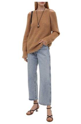 Женский пуловер ERIKA CAVALLINI коричневого цвета, арт. W1/P/P1WC21 | Фото 2