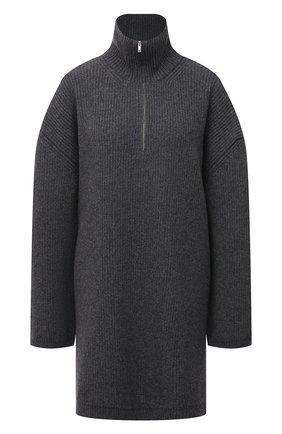 Женский шерстяной свитер ERIKA CAVALLINI серого цвета, арт. W1/P/P1WB02 | Фото 1