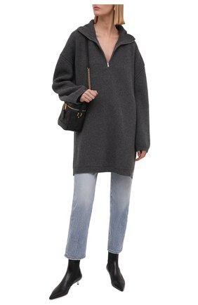 Женский шерстяной свитер ERIKA CAVALLINI серого цвета, арт. W1/P/P1WB02 | Фото 2