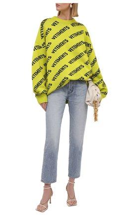Женский шерстяной свитер VETEMENTS желтого цвета, арт. UA52KN600Y 2901/W | Фото 2