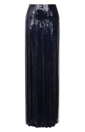 Женская юбка с пайетками RALPH LAUREN синего цвета, арт. 290773774 | Фото 1 (Материал внешний: Шелк; Стили: Гламурный; Женское Кросс-КТ: Юбка-одежда; Длина Ж (юбки, платья, шорты): Макси)