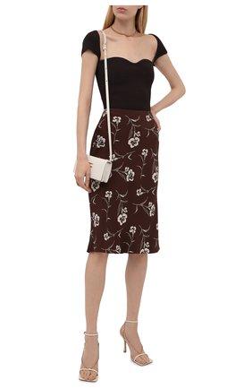 Женская шелковая юбка RALPH LAUREN коричневого цвета, арт. 290840903 | Фото 2 (Материал внешний: Шелк; Длина Ж (юбки, платья, шорты): Миди; Стили: Кэжуэл; Женское Кросс-КТ: Юбка-одежда)
